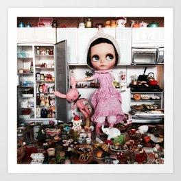 Mia Sparrow's Kitchen Art Print