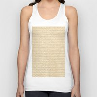 knit Tank Tops featuring Woven Knit by Verity Bushby