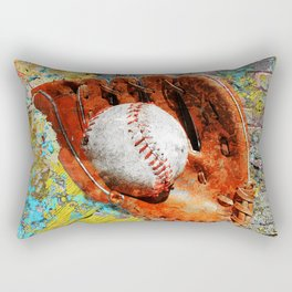 Baseball art printwork 12 Rectangular Pillow