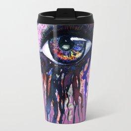 Rainbow eye splashing Travel Mug