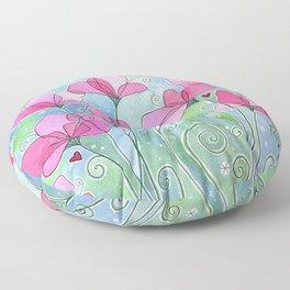 Celestial Strawberry Fluff Floor Pillow