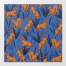 Summer Jungle Tropical Tiger Canvas Print