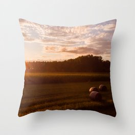 Rural Sunset Throw Pillow