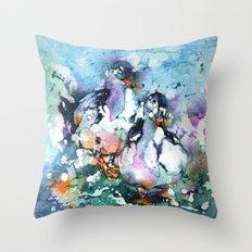 Two Batty Ducks Throw Pillow