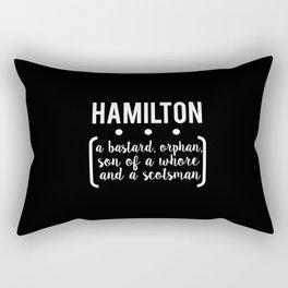 a.ham // black Rectangular Pillow