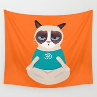 yoga Wall Tapestries featuring Yoga by My Studio