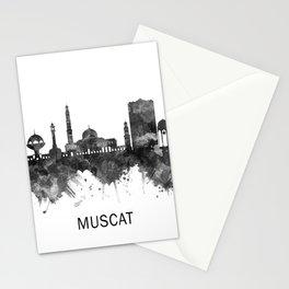 Muscat Oman Skyline BW Stationery Cards