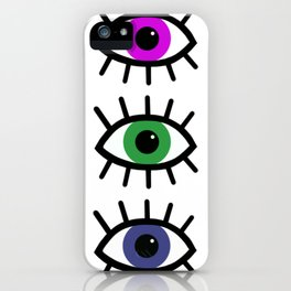 Open Your Eyes - Festival Pattern iPhone Case