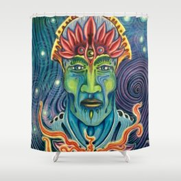 enlightened lights and eyes Shower Curtain