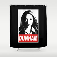 obey Shower Curtains featuring Obey Dunham by Ant Atomic
