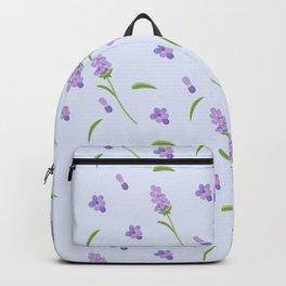 Lilac violet green abstract modern floral illustration Backpack