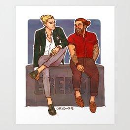 Gigolas Fashion Week Art Print