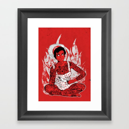 Housewife From Hell Framed Art Print