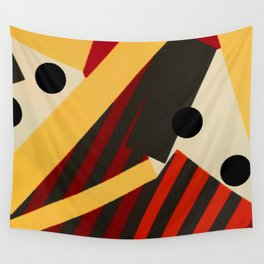 Abstract in Stripes and Dots Wall Tapestry
