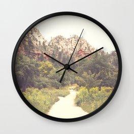 Colors of Sedona Wall Clock