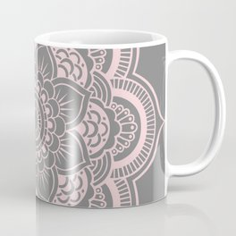 Mandala Flower Gray & Ballet Pink Coffee Mug