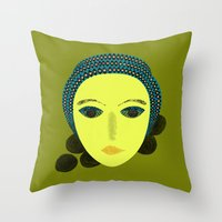 nausicaa Throw Pillows featuring nausicaa by juni