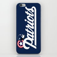 patriots iPhone & iPod Skins featuring American Patriots by SuperEdu
