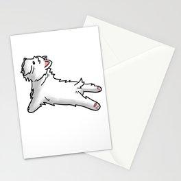 Westie Yoga Stationery Cards
