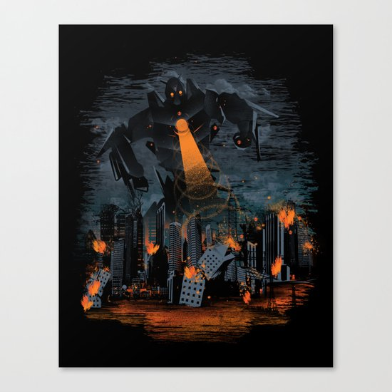 Evil Will Burn Canvas Print