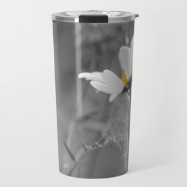 White daisy on a grey day #decor #society6 Travel Mug
