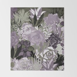Succulents Art Throw Blanket