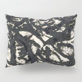 A black and white Jackson Pollock style art digitally vectorised Pillow Sham