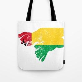 Distressed GuineaBissau Map Tote Bag