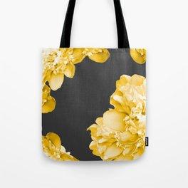 Yellow Flowers On A Dark Background #decor #society6 #buyart Tote Bag