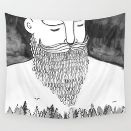 The Magically Wonderful Snow Beard Wall Tapestry