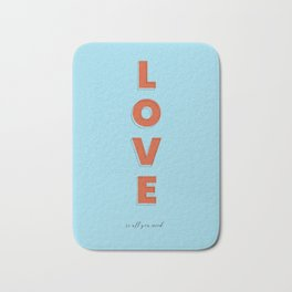 Love is all - typography Bath Mat