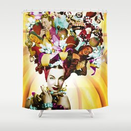 Carmen Miranda Collage Shower Curtain