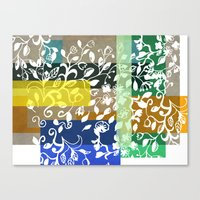 Canvas Prints featuring Unconventional lace by Sagacious Design