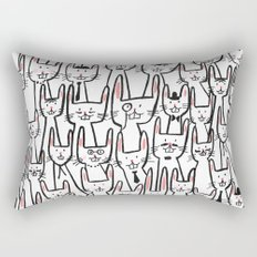Bunny family Rectangular Pillow