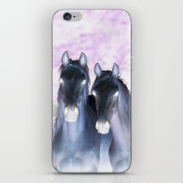 infra red horses iPhone Skin