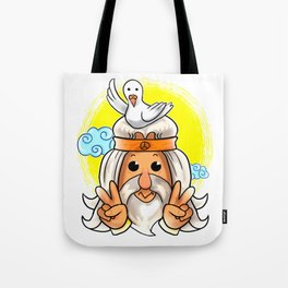 Cute Dove and Peace Sign Noah Hippie Gift Idea Tote Bag
