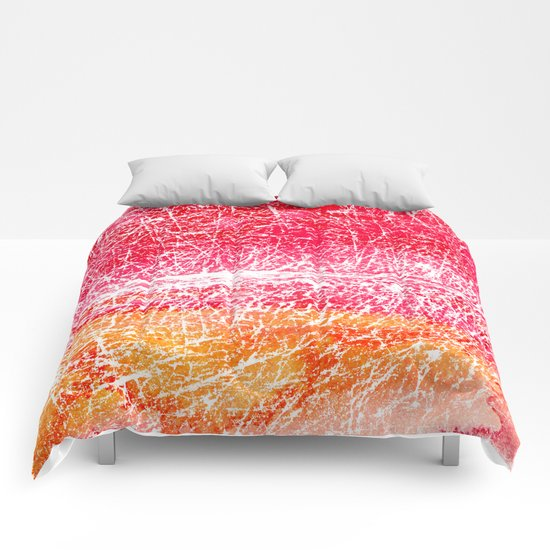 Red and yellow abstract texture Comforters