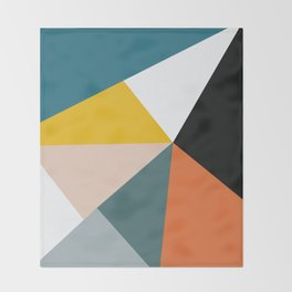 Triangles abstract colorful art Throw Blanket