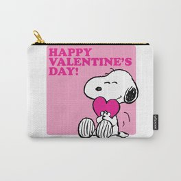 Happy Valentine's Day Snoopy Dog Carry-All Pouch