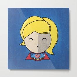 Supergirl, Minimal Art Metal Print