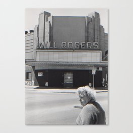 Woman and the Will Rogers Canvas Print