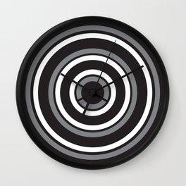 Circles Black and White Wall Clock