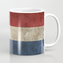 Old and Worn Distressed Vintage Flag of The Netherlands Coffee Mug