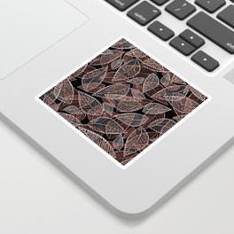 Abstract rose gold silver black glitter leaf pattern Sticker