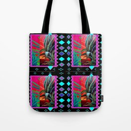 BLACK-TURQUOISE DESERT AGAVE PAINTING Tote Bag