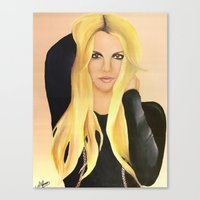 britney spears Canvas Prints featuring BRITNEY SPEARS  .- BRITNEY JEAN  by Alfonso Aranda