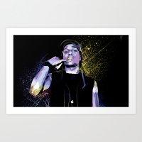 asap rocky Art Prints featuring ASAP  by Liamduignan