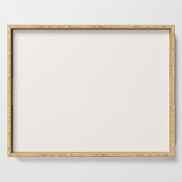 Best Seller Creamy Off White Solid Color Pairs with Farrow and Ball All White 2005 Serving Tray