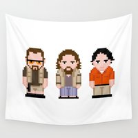 big lebowski Wall Tapestries featuring The Big Lebowski  by PixelPower