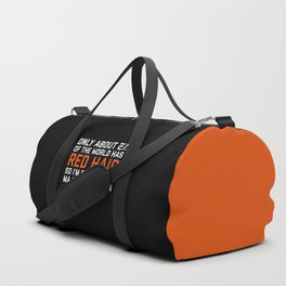 Red Hair Funny Quote Duffle Bag